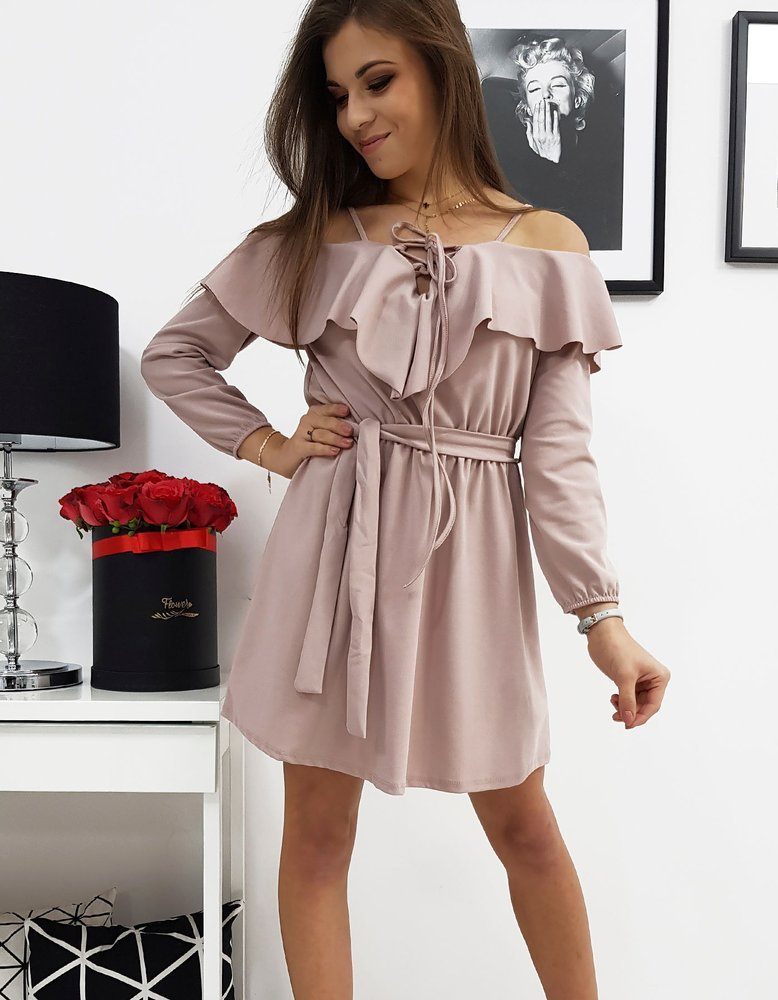 Módne dámske ružové šaty CORREA (ey0637)