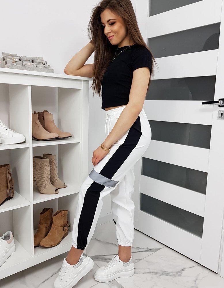 Spodnie damskie EUFORIA białe UY0234