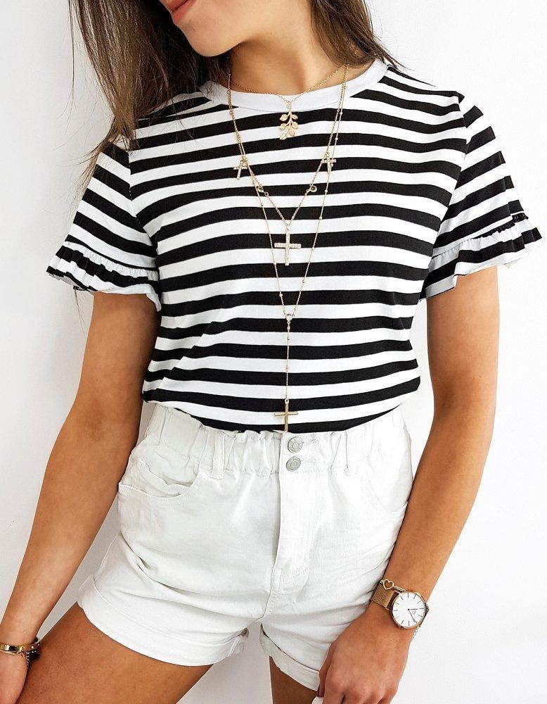 T-shirt damski MODERA czarny RY1447
