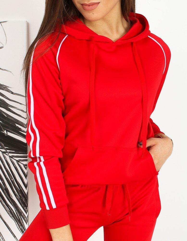 Bluza damska dresowa LAMI czerwona BY0608