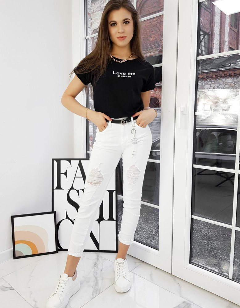 T-shirt damski LOVE ME czarny Dstreet RY1585
