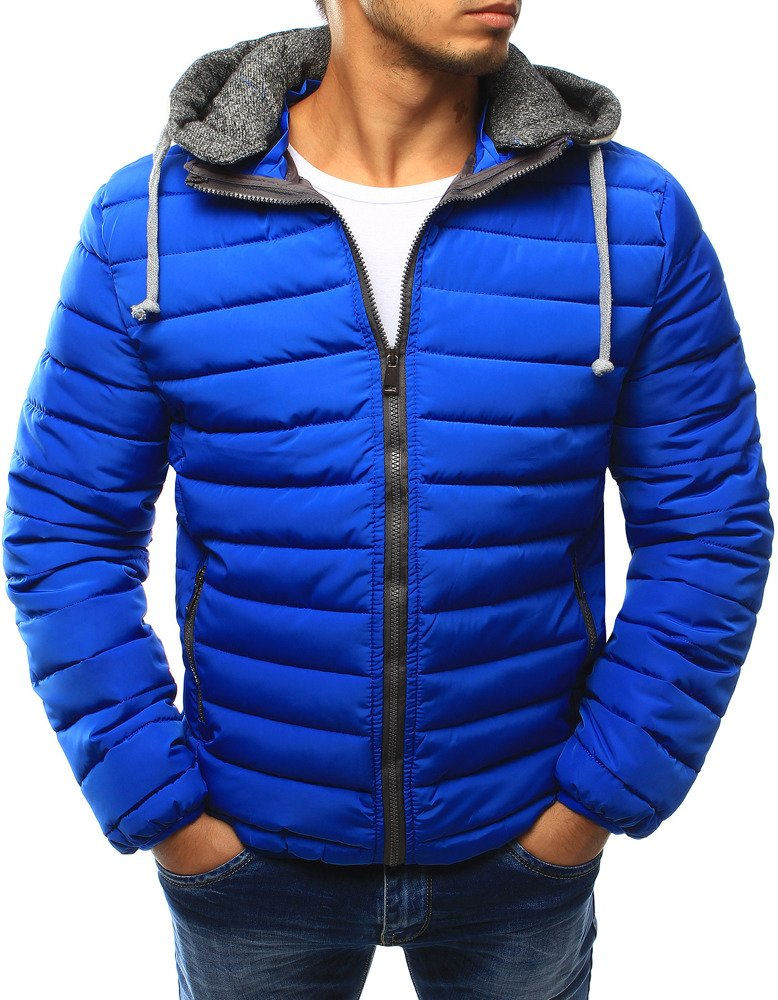 c4fca479617f Pánska bunda svetlo modrá