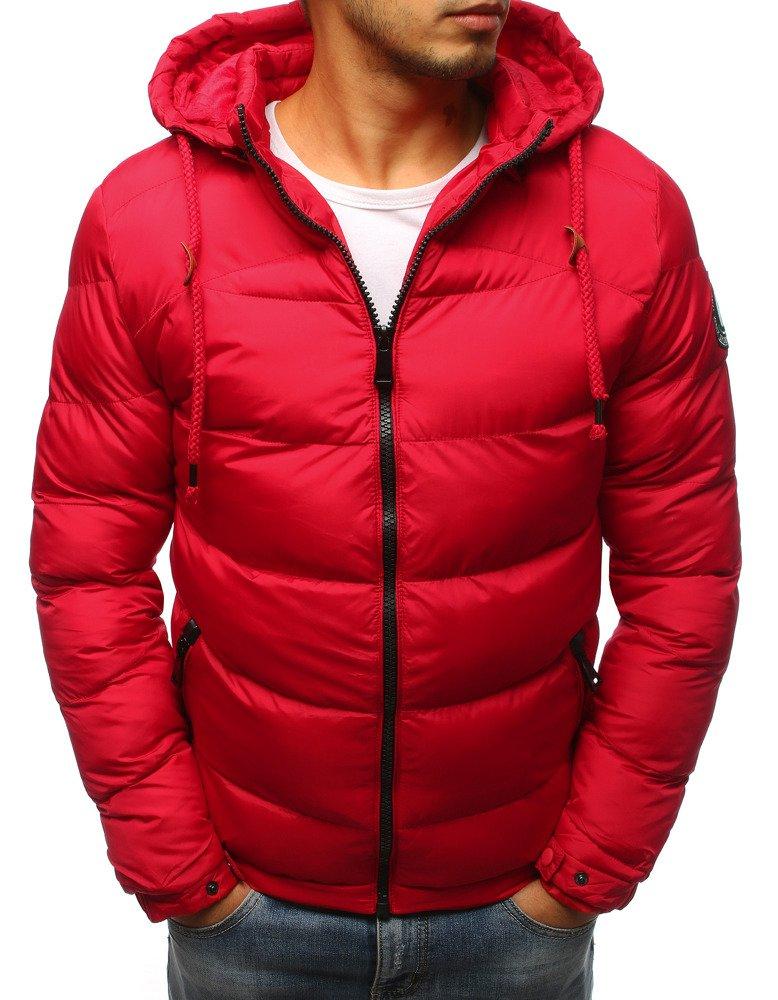 Červená pánska zimná bunda (tx2406)