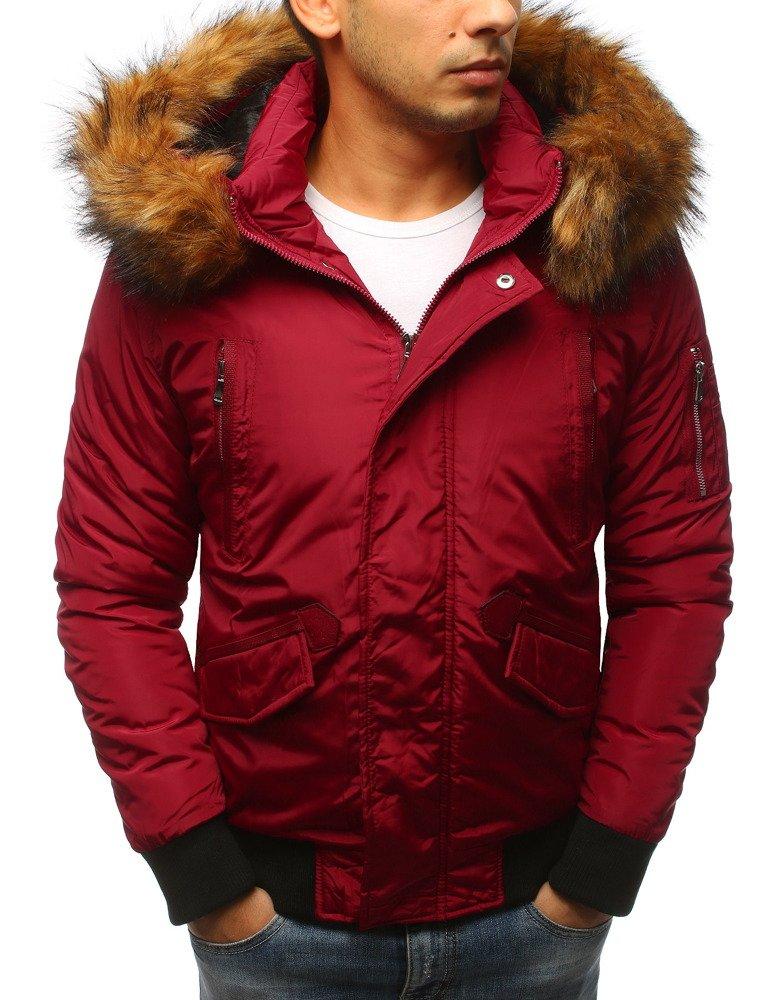 Červená pánska zimná bunda (tx2458)