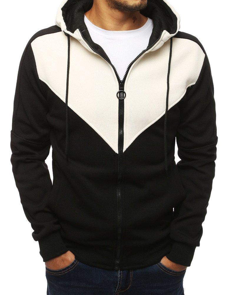 Bluza męska rozpinana z kapturem czarna BX4143