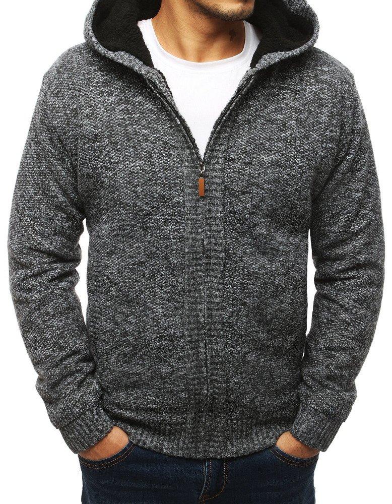 Čierny pánsky oteplení sveter