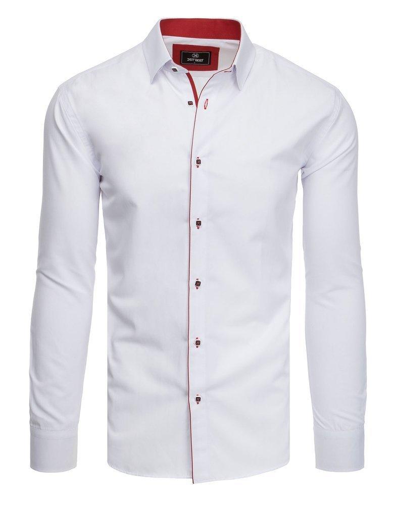Elegantná pánska košeľa dlhý rukáv biela