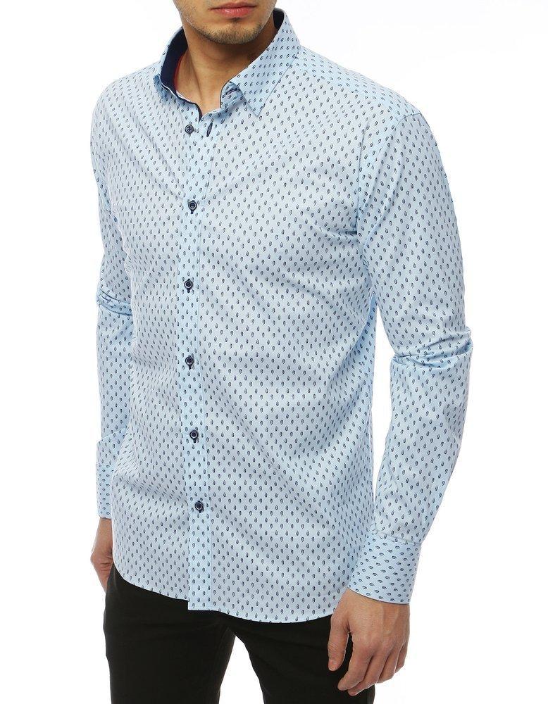 Pánska vzorovaná košeľa s dlhým rukávom DX1823