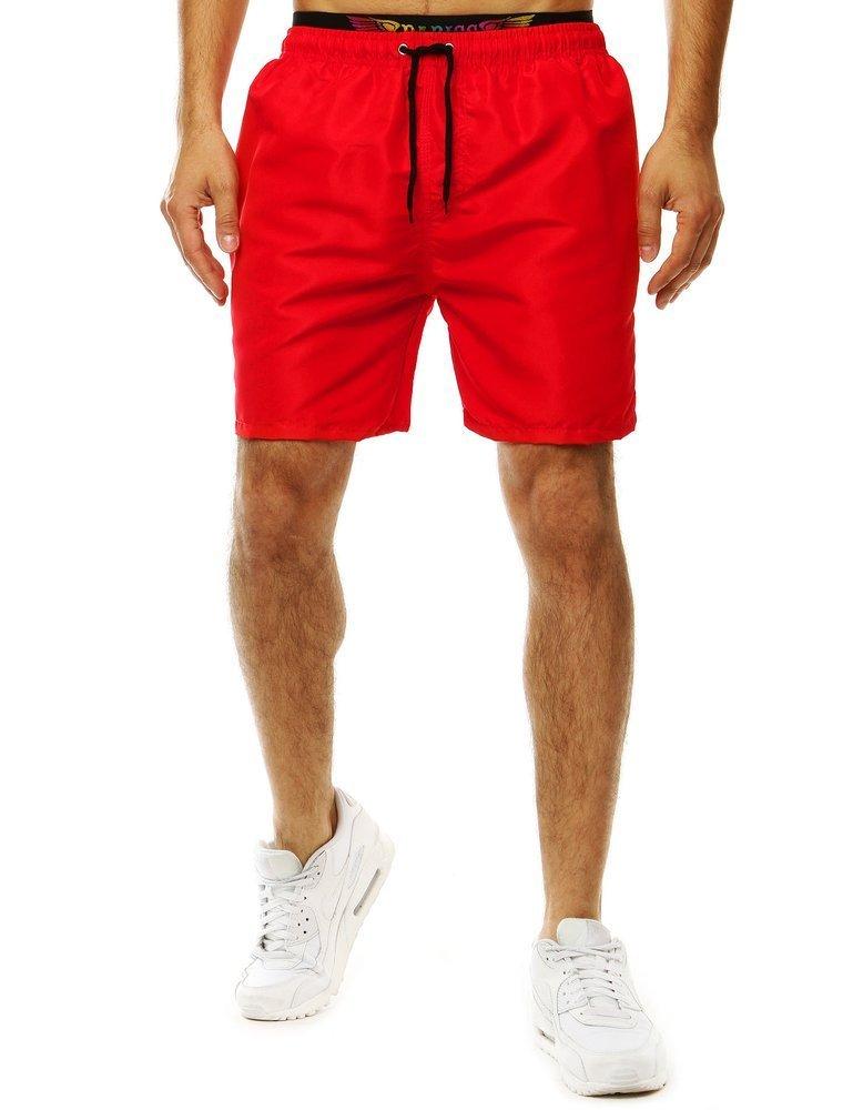 Červené pánske kúpacie šortky SX2055