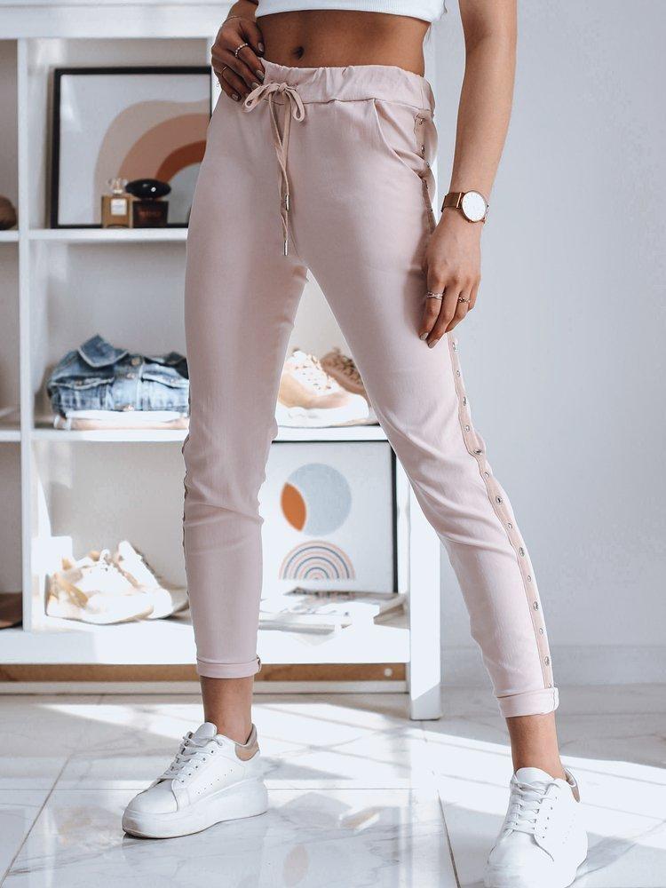Spodnie damskie dresowe FEND różowe Dstreet UY0781