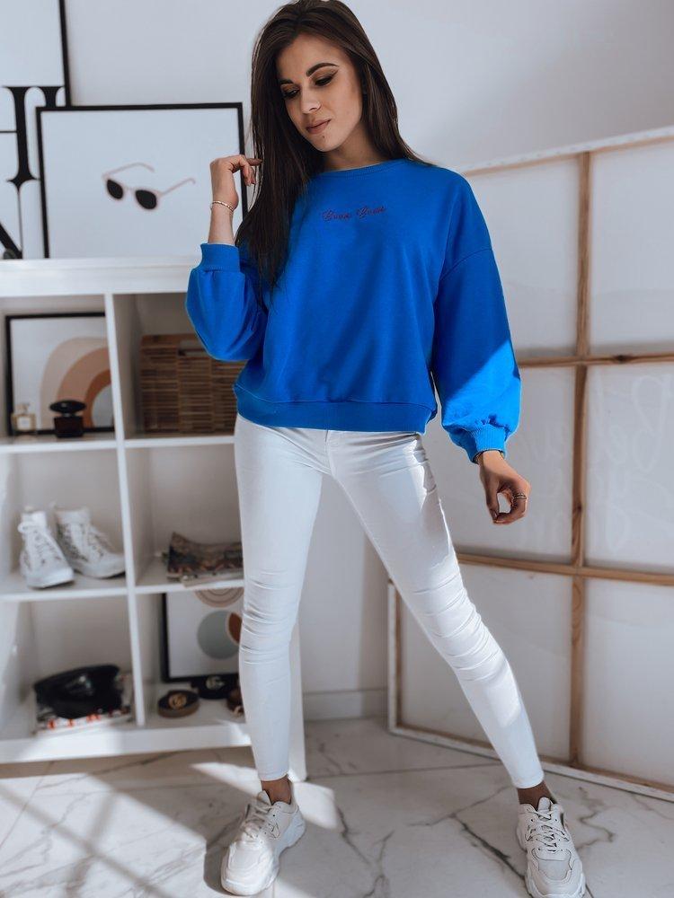 Bluza damska BOOM niebieska Dstreet BY0888