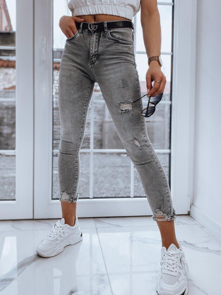 Spodnie damskie jeansowe JESSA II szare Dstreet UY0891