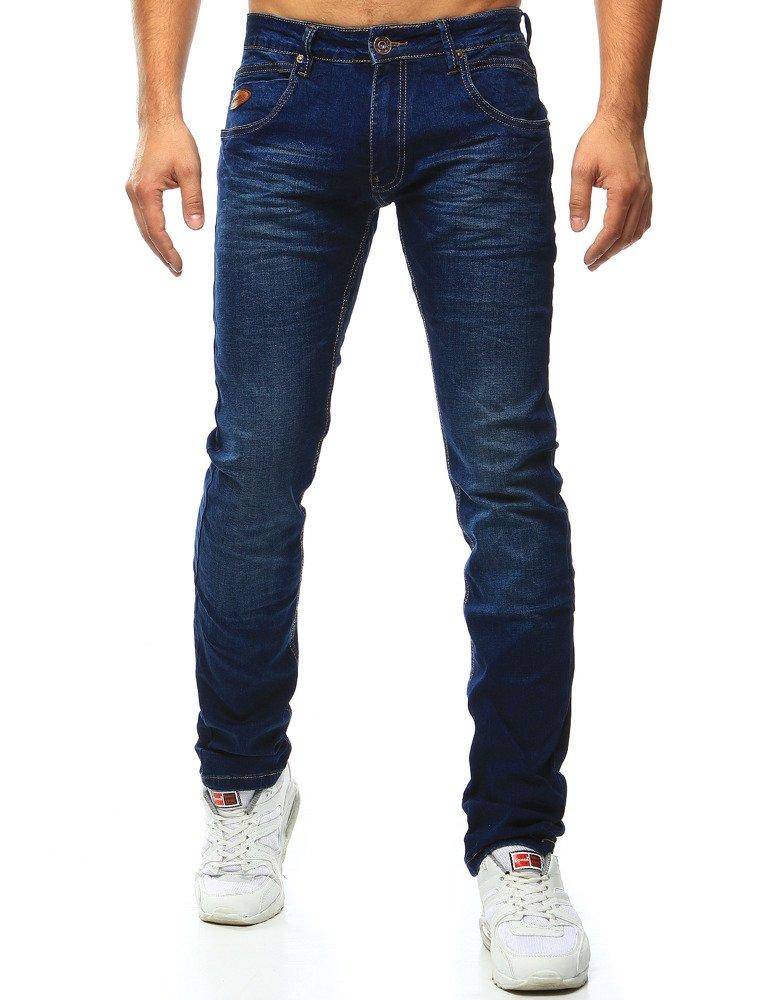 Spodnie jeansowe męskie niebieskie UX1000