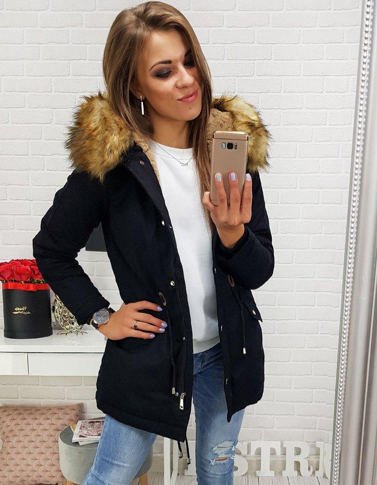 Čierna dámska zimná bunda (ty0268)