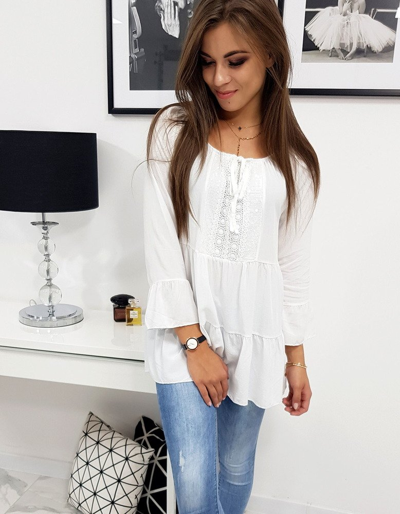 Bluzka damska LISSA biała (ry0717)