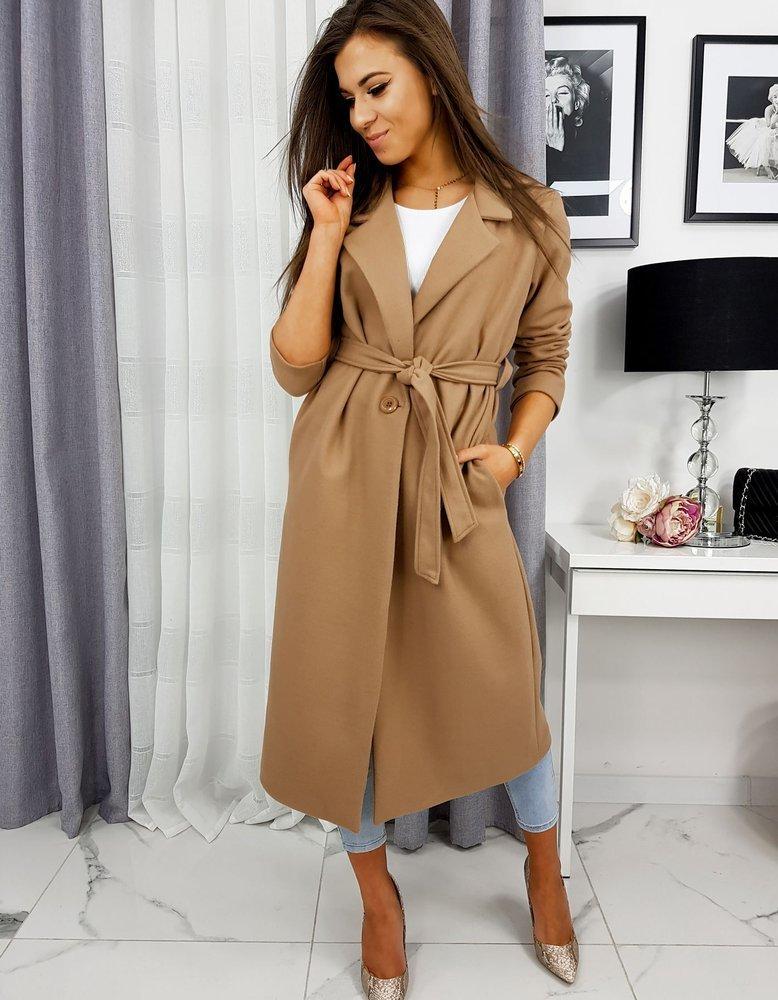 Płaszcz damski CLAUDIA kamelowy NY0306