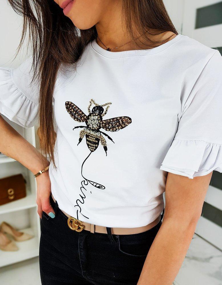 T-shirt damski LIND biały RY1257