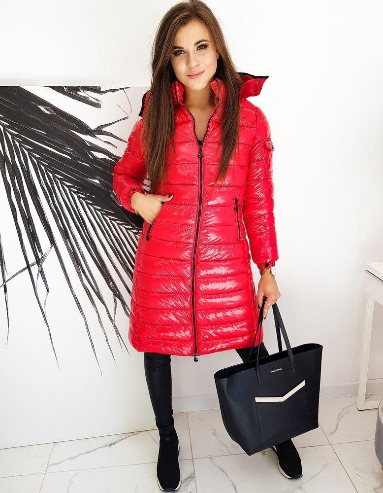 Płaszczyk damski pikowany BOLONIA czerwony TY1400