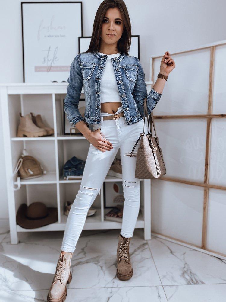 Kurtka damska jeansowa POENA II niebieska TY1666