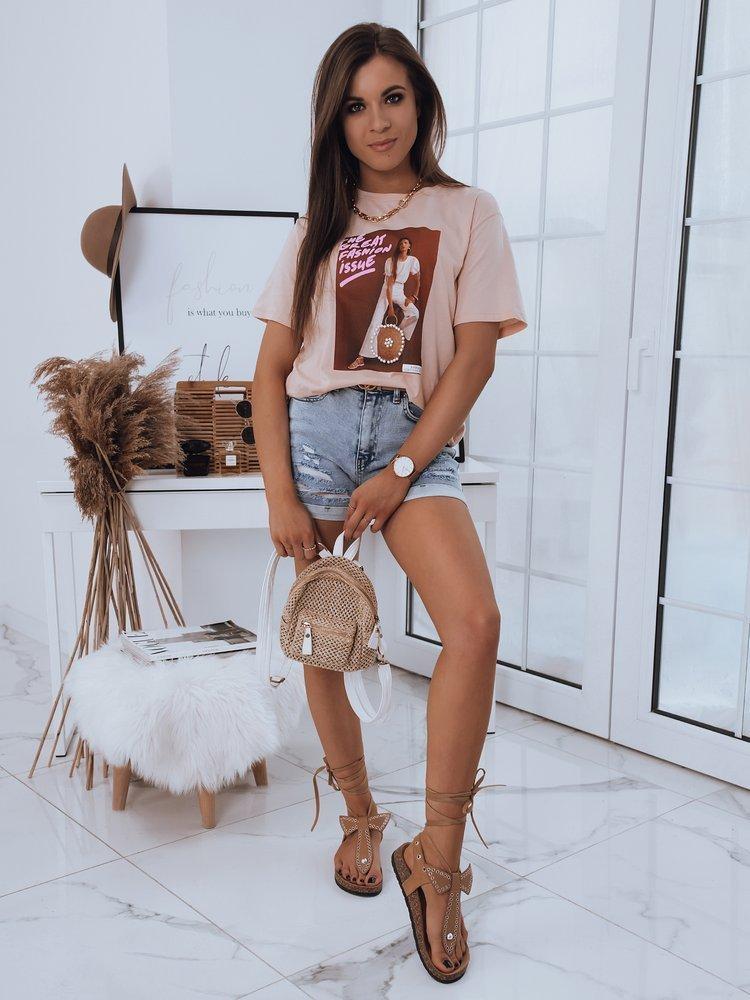 T-shirt damski JASMIN brzoskwiniowy Dstreet RY1684