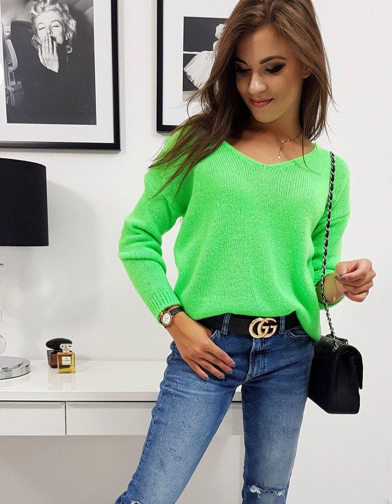 MILLAU dámsky sveter neónový zelený