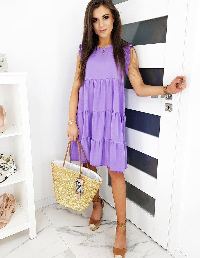 Letné šaty lila