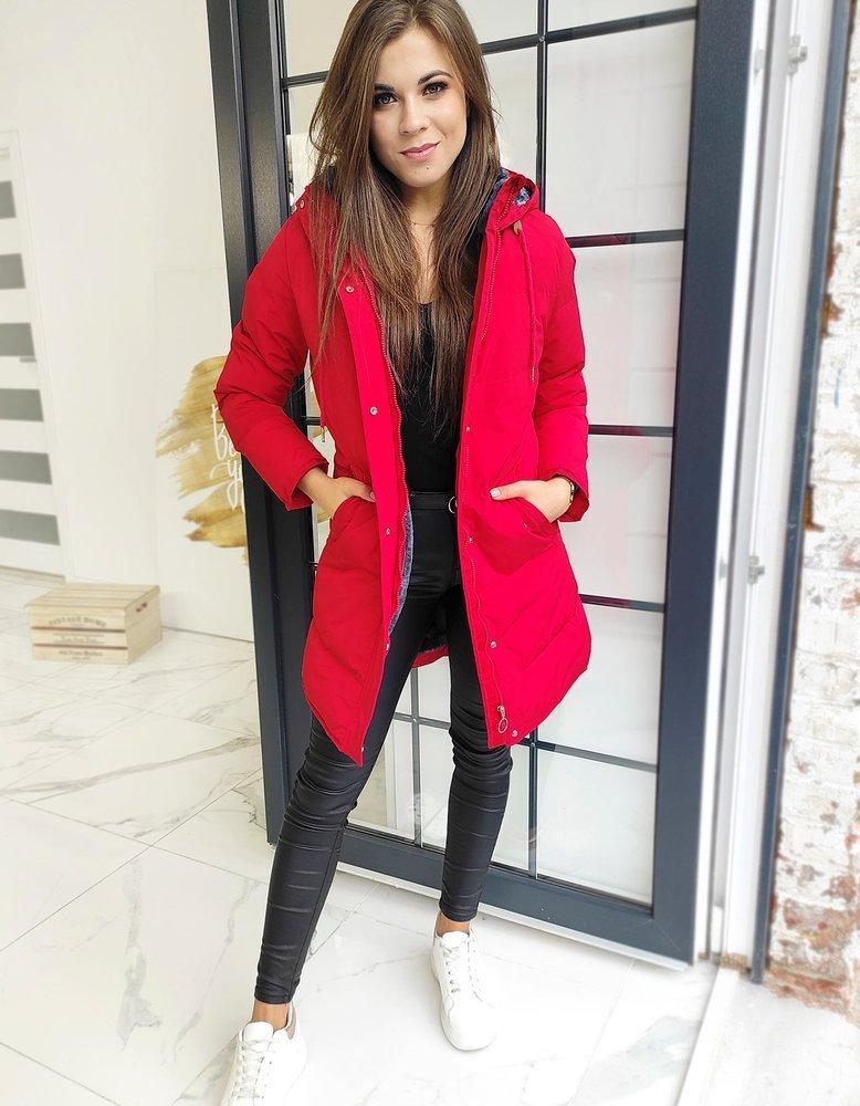 Kurtka płaszcz damski pikowany FEELS czerwony TY1511