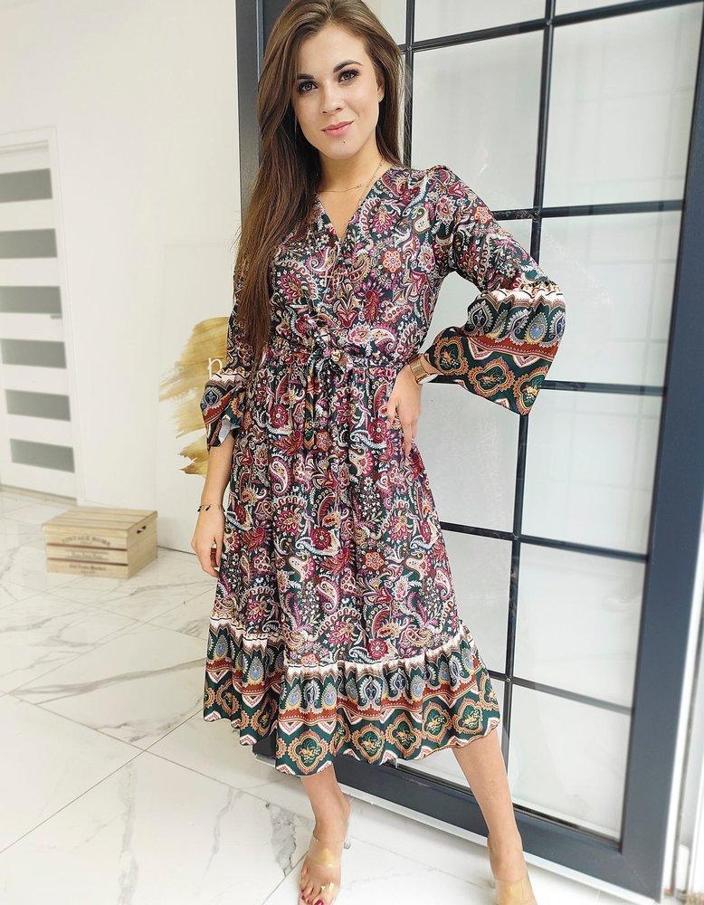 Krásne farebné dámske šaty DENISA.
