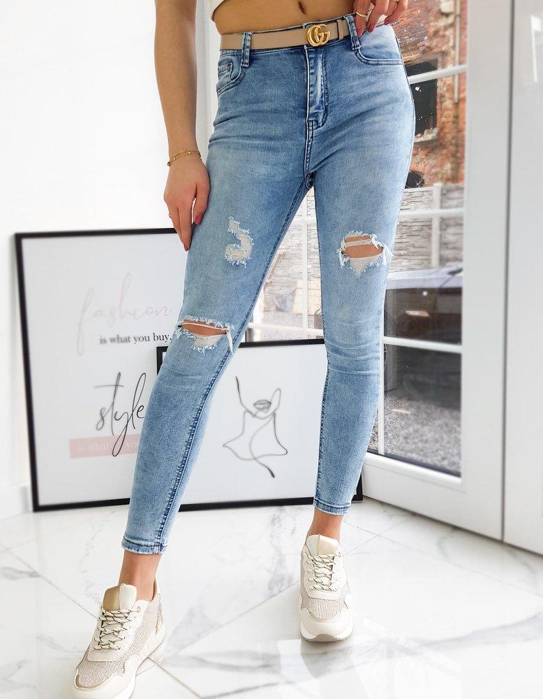 Spodnie damskie jeansowe ODAHO niebieskie UY0716