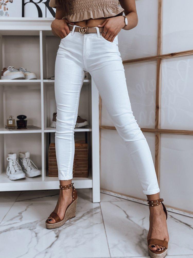 Spodnie damskie jeansowe HANN białe Dstreet UY0862