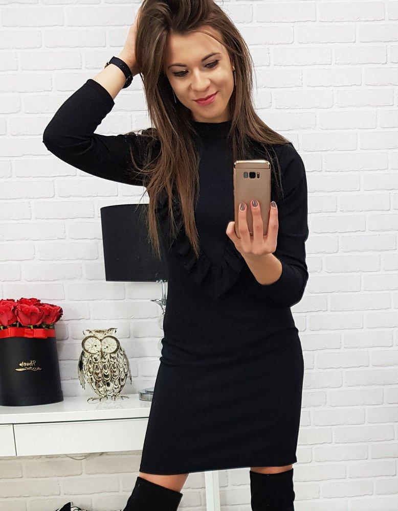 Čierne dámske šaty (ey0624)