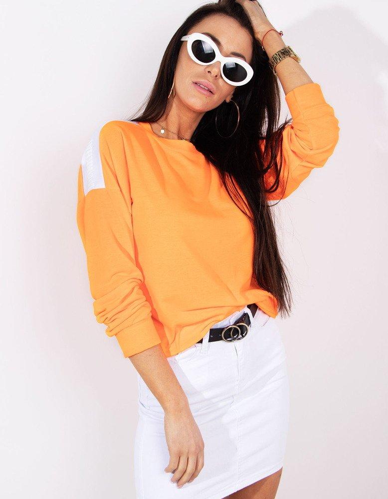 Bluza damska NEON neonowy pomarańcz BY0183