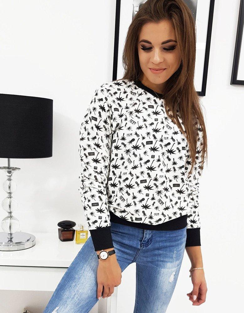 Bluza damska PALMAS biała we wzory BY0209