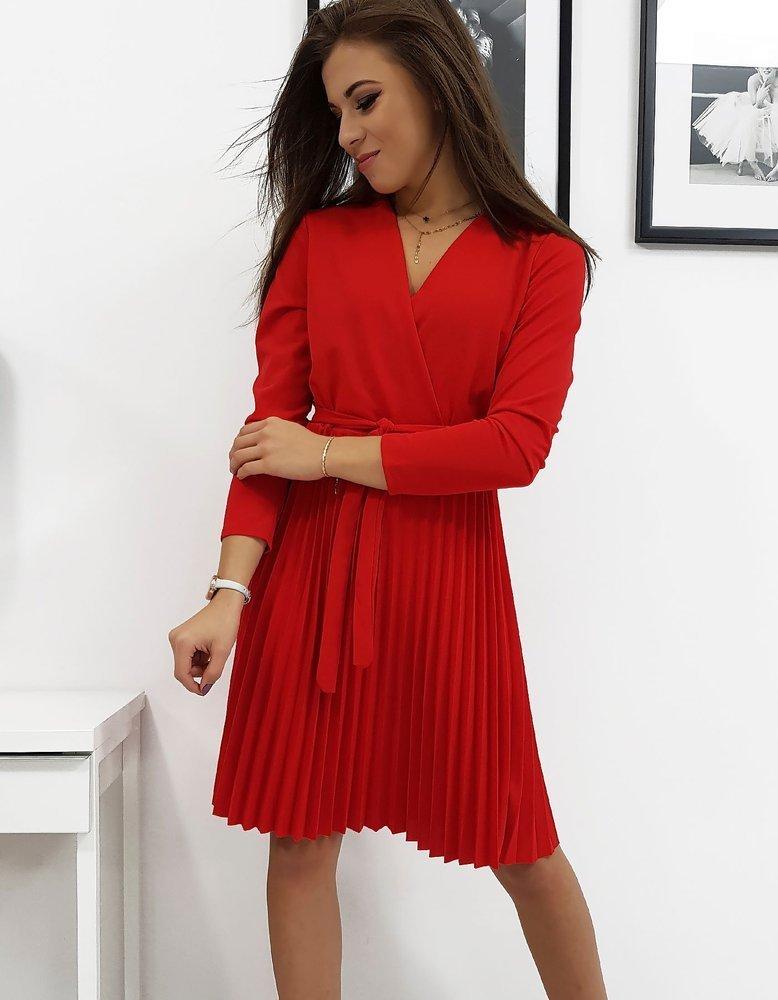 Krásne červené dámske šaty DIVA (ey0992)