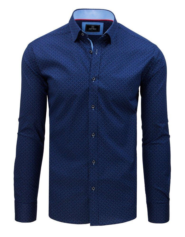 Košeľa so vzorom modrá