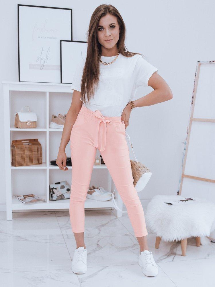 Spodnie damskie LOVELY BASIC różowe UY0413