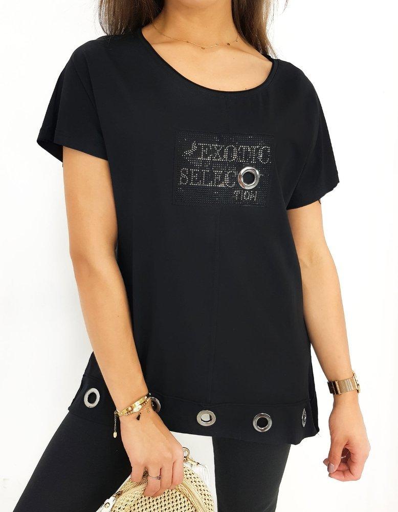 Čierna dámska blúzka SELECT RY1331