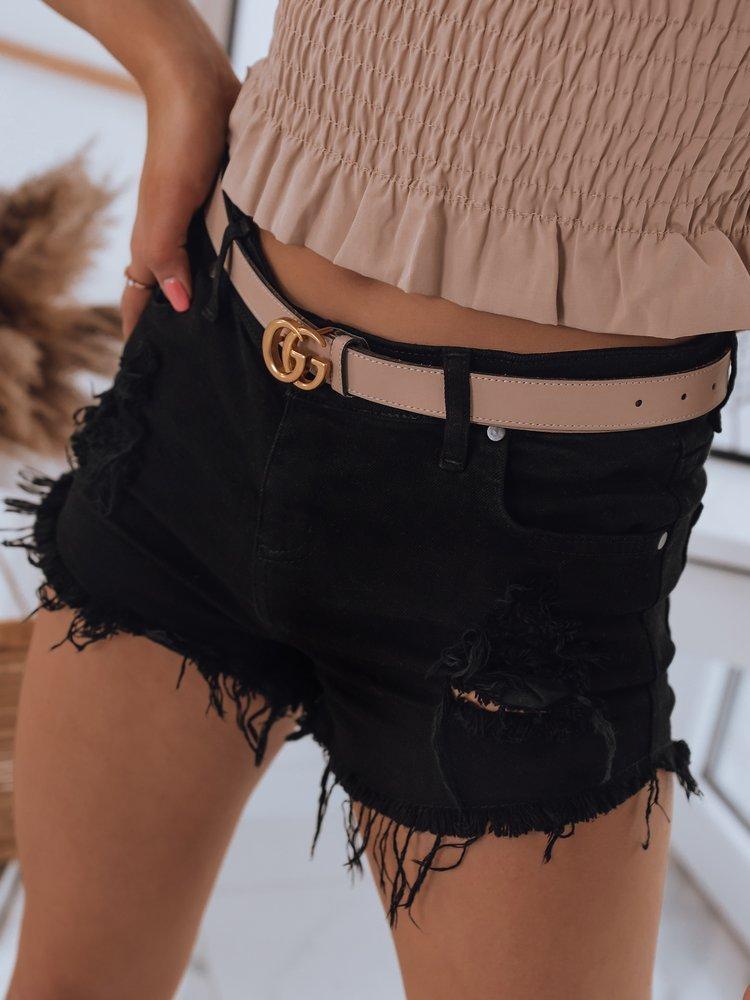 Spodenki damskie jeansowe FELINS czarne Dstreet SY0208