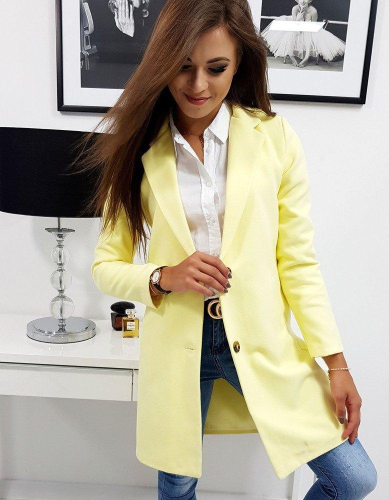 Dámsky kabát  pastelovo žltý