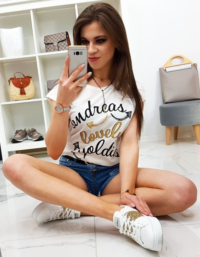 Dámske tričko LOVELY s krátkym rukávom (ry0844)