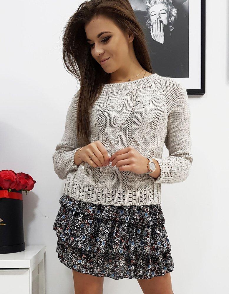 Sweter damski AVIENE jasnobeżowy MY0684