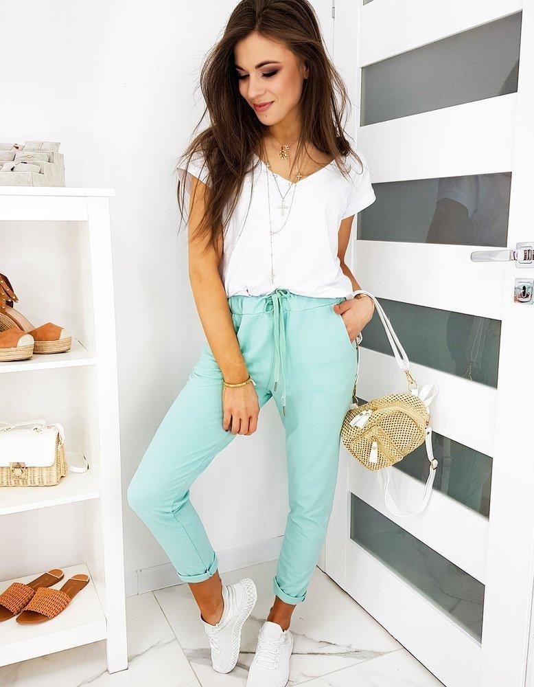 Spodnie damskie SELENA miętowe UY0475