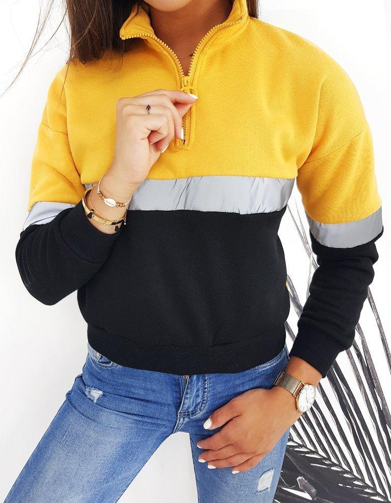 Bluza damska DUETO II żółta BY0396