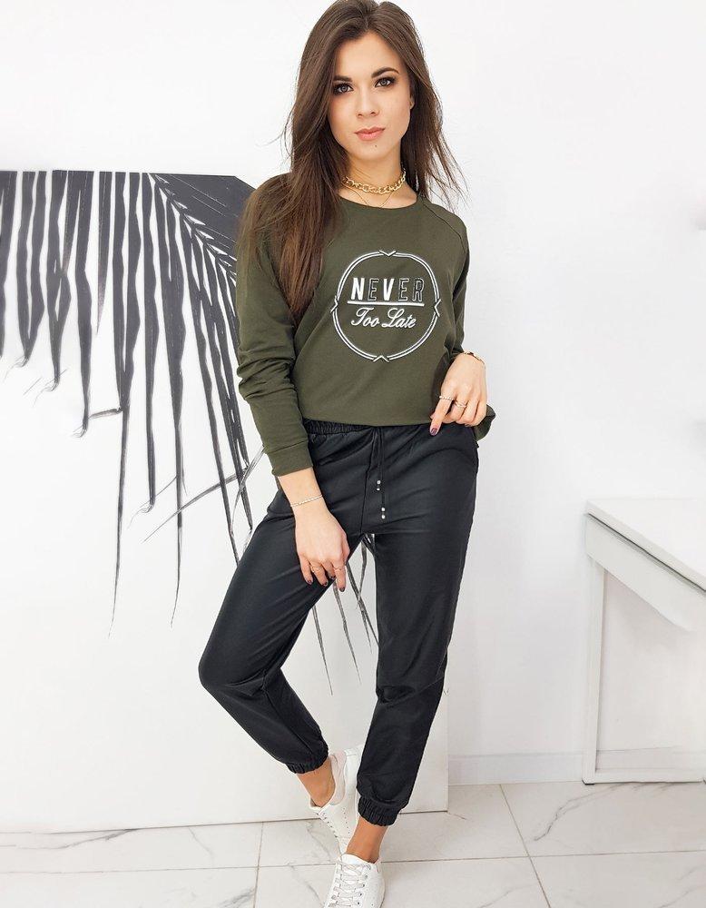 Bluza damska oversize NEVER khaki BY0635