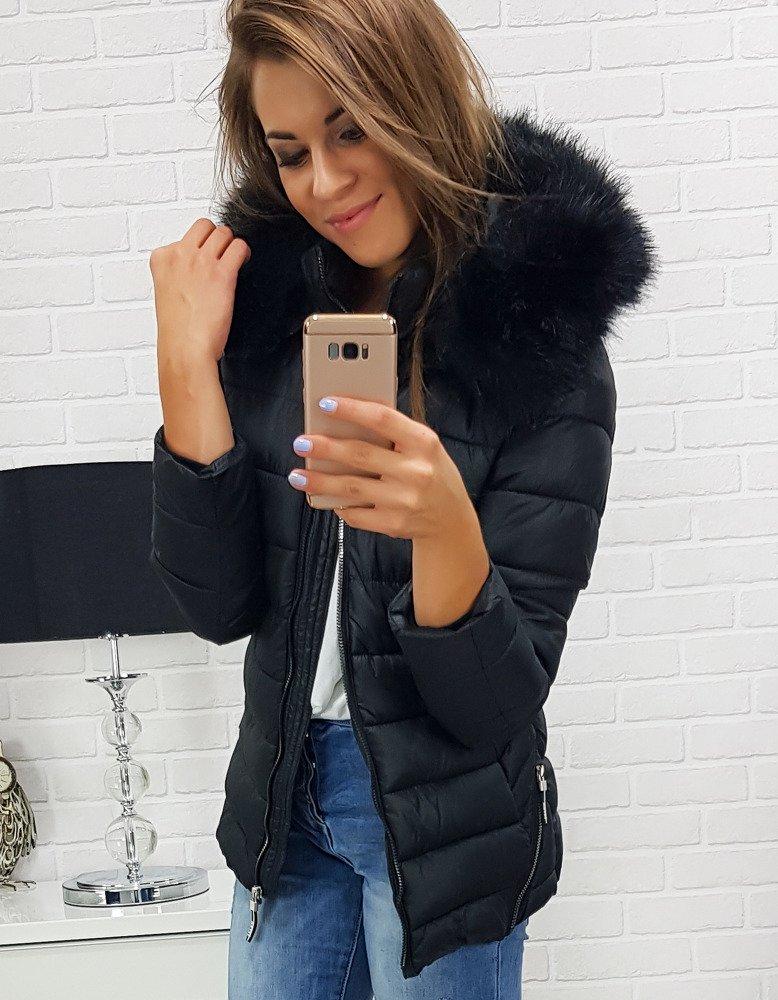 Dámska trendová čierna bunda (ty0288)