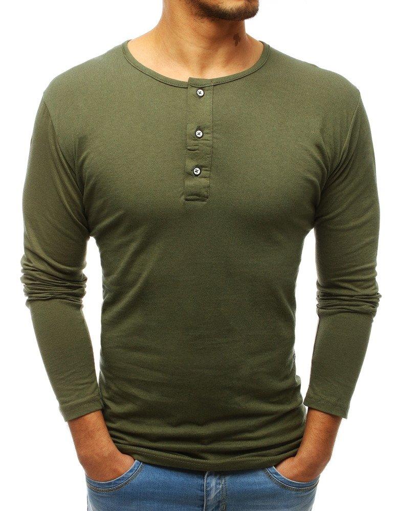 Zelené pánske tričko s dlhým rukávom (lx0491)