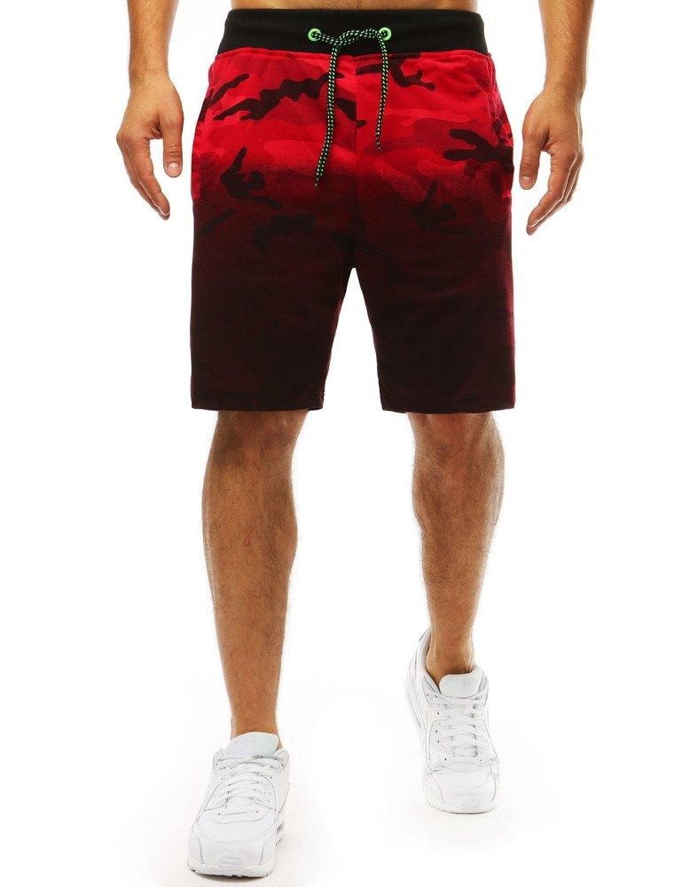 Pánske teplákové kraťasy máskačové červené