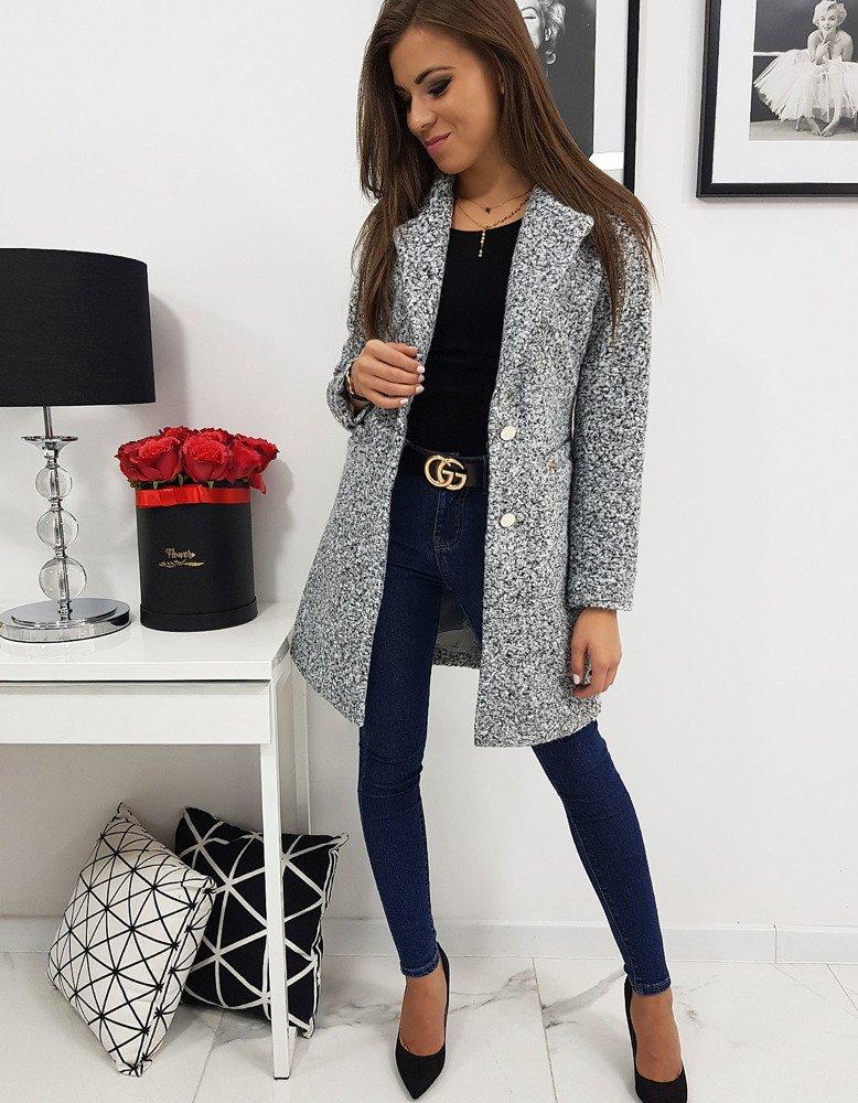 Dámsky jednoradový kabát šedý