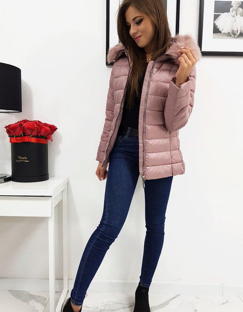 Ružová štýlová zimná bunda ESTELLA (ty1013)