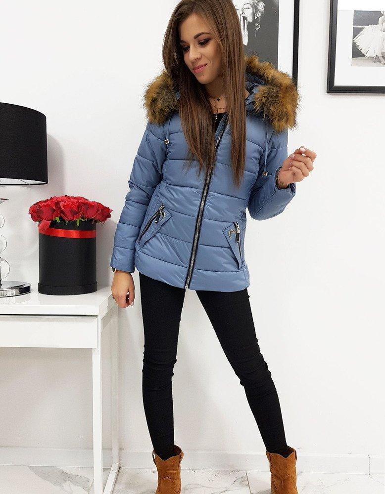 Pikowana damska kurtka VIP niebieska TY0415